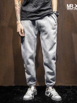 กางเกงขายาวญี่ปุ่น จั้มปลายขา แต่งกระเป๋ากางเกง มี3สี