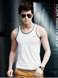 เสื้อกล้ามแฟชั่นเกาหลี แต่งขอบสวย แนวโมเดิร์น มี10สี