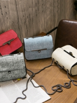 กระเป๋าสะพายข้างหญิงแฟชั่น แต่งลายวินเทจ มี4สี