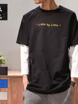 เสื้อแฟชั่นแขนยาวญี่ปุ่น ดีไซน์2ชั้น พิมพ์ลายตัวอักษร มี3สี