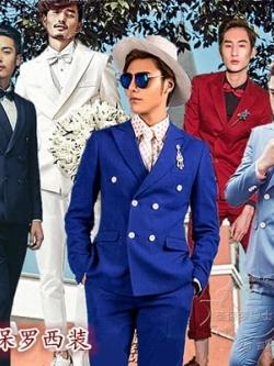 ชุดเซทสูทเกาหลี ธีมชุดเพื่อนเจ้าบ่าว เสื้อสูทแขนยาว+กางเกงขายาว มี7สี