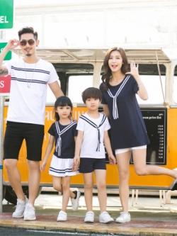 ชุดครอบครัวเซท4ชุด แนวเครื่องแบบกองทัพเรือ