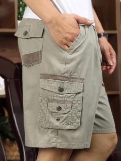 กางเกงขาสั้นเกาหลี แต่งกระเป๋ากางเกง แนวอินเทรนด์ มี4สี