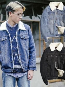 เสื้อแจ็คเก็ตยีนส์ญี่ปุ่นวินเทจ ซับในกำมะหยี่หนานุ่ม มี3สี
