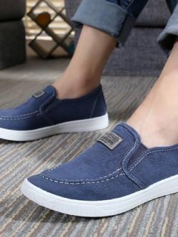 รองเท้าผ้าใบเกาหลี แบบสวม แนวลำลอง มี3สี