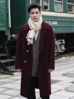 เสื้อโค้ทแจ็คเก็ตเกาหลี แต่งกระดุม ผ้าหนานุ่ม มี3สี