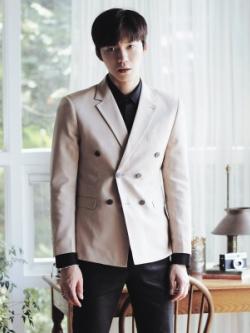 เสื้อสูทแขนยาวเกาหลี ดีไซน์กระดุม แนวอินเทรนด์ มี2สี