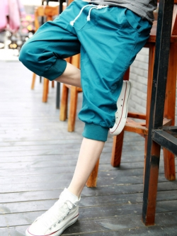 กางเกงขาสั้นเกาหลี สไตล์ลำลอง แต่งขอบ <มี4สี>