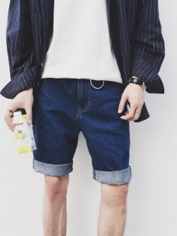 กางเกงยีนส์ขาสั้นเกาหลี แนวลำลองแฟชั่น