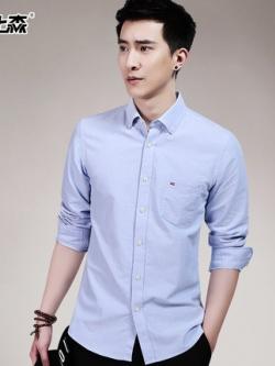 เสื้อเชิ้ตแขนยาวเกาหลี เรียบสวย แต่งขอบกระเป๋า มี6สี