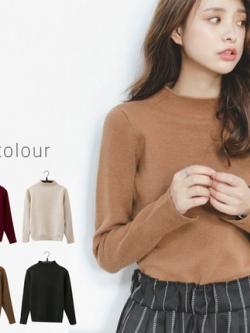 เสื้อแฟชั่นแขนยาวเกาหลี เรียบสวย แต่งคอเสื้อ มี4สี