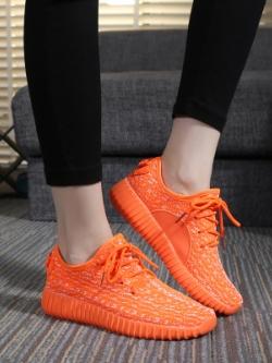 รองเท้าผ้าใบเกาหลี แนวSport ดีไซน์ระบายอากาศ มี4สี