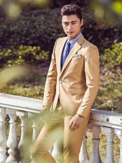 ชุดเซทสูทเกาหลี สีGold เสื้อสูทแขนยาว+กางเกงขายาว