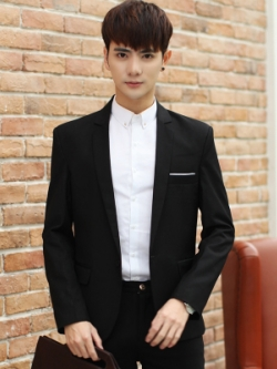 เสื้อสูทแขนยาวเกาหลี ทรงเรียบสวย แต่งกระเป๋าเสื้อด้านล่าง มี4สี
