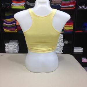 เสื้อกล้ามหลังสปอร์ตครึ่งตัว สีเหลืองอ่อน