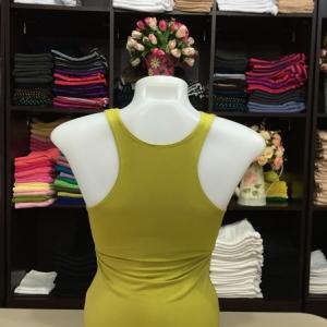 เสื้อกล้ามหลังสปอร์ต สีเหลืองมัสตาร์ด