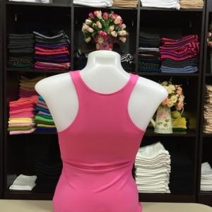เสื้อกล้ามหลังสปอร์ต สีชมพูหวาน