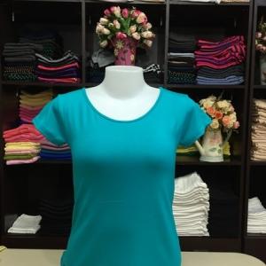 """เสื้อยืดคอกลม สีเขียวเธอควอยส์ size""""M"""""""