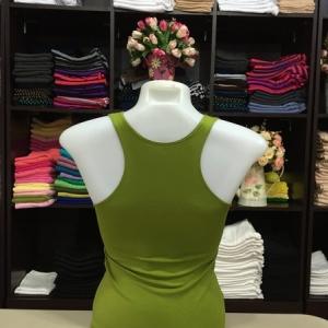 เสื้อกล้ามหลังสปอร์ต สีเขียวไพร