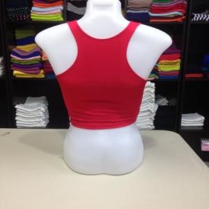 เสื้อกล้ามหลังสปอร์ตครึ่งตัว สีแดง