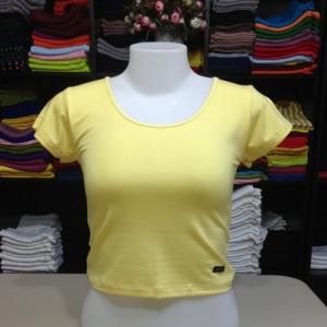 เสื้อยืดครึ่งตัว สีเหลืองอ่อน