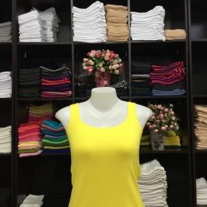 sizeใหญ่ เสื้อกล้าม สีเหลืองดอกคูณ