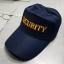 หมวกแก็ปผ้าชาลี ซิปหลัง SECURITY (มี ดำ กรมท่า) thumbnail 5