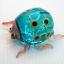 แมลงเต่าทองแก้วเป่า Glass Figurine ฺBlue Ladybug thumbnail 2