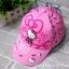 หมวกเด็ก ฮัลโหลคิตตี้ Hello kitty ลายฮัลโหลคิตตี้โบว์ สีชมพู thumbnail 7