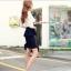 Pre Order - กระโปรงแฟชั่นเกาหลี Big Size ดีไซด์สุดเทรน สี : สีน้ำเงิน / สีไวน์แดง thumbnail 7