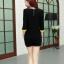 PreOrderคนอ้วน - เสื้อแฟชั่นเกาหลี คนอ้วน ไซส์ใหญ่ ผ้าฝ้าย ดีไซส์เก๋ ๆ ใส่ได้หลายงาน สีดำเหลือง thumbnail 4
