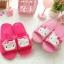 รองเท้าใส่ในบ้าน/ออฟฟิศ ฮัลโหลคิตตี้ Hello Kitty ขนาด free size ลายหน้าคิตตี้โบว์ชมพู thumbnail 1