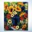 รหัส HB4050356 ภาพระบายสีตามตัวเลข Paint by Number แบบ Flowers ขนาด40x50cm/พร้อมส่ง thumbnail 1