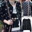 ++สินค้าพร้อมส่งค่ะ++ เสื้อ jacket เกาหลี แขนยาว ซิบหน้า ผ้าพิมพ์ลายดาว แต่งกระเป๋า 2 ข้าง น่ารัก มี 3 สีค่ะ – สีดำ thumbnail 1