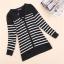 Qian Yi *Pre-order*เสื้อคลุมไซส์ใหญ่ แขนยาว ลายแขวาง ขาวดำ thumbnail 2