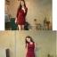 ++สินค้าพร้อมส่งค่ะ++ ชุดเดรสเกาหลี 2 ชิ้น เสื้อ cardigan แขนยาว กระดุมหน้า+เดรส แขนกุด ทรงเข้ารูปกระชับเก๋ มี 2 สีค่ะ – สีแดง thumbnail 2