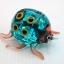 แมลงเต่าทองแก้วเป่า Glass Figurine ฺBlue Ladybug thumbnail 1