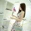 ++สินค้าพร้อมส่งค่ะ++ชุดเซ็ทเกาหลี เสื้อสายเดี่ยว เกาะอก ผ้าพิมพ์ลายดอกไม้และกระโปรงจับจีบเซ็กซี่ มี 2 สีค่ะ สี ชมพู thumbnail 2