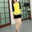 PreOrderคนอ้วน - เสื้อแฟชั่นเกาหลี คนอ้วน ไซส์ใหญ่ ผ้าฝ้าย ดีไซส์เก๋ ๆ ใส่ได้หลายงาน สีดำเหลือง thumbnail 3