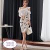 แฟชั่นเกาหลี set เสื้อและกระโปรงสวยมากๆ ครับ เสื้อผ้าโพลีเอสเตอร์ผสมสีขาว ดีไซน์เก๋