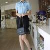 เสื้อทำงาน แฟชั่นเกาหลี เสื้อทำงานสีฟ้า เสื้อเชิ๊ตทำงาน ผ้าชีฟอง คอปก แขนสั้น กระดุมหน้า เหมาะกับสาวทำงานออฟฟิศ สวยมากๆครับ (พร้อมส่ง)