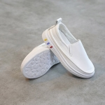 รองเท้าเด็กหนัง PU#เรียบแต่เก๋#แบบสวม#ใส่ง่าย สีขาว