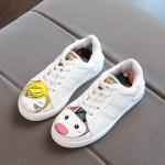 รองเท้าผ้าใบ#หน้าการ์ตูน สีขาว