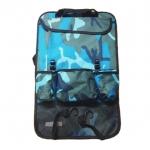 กระเป๋าเก็บของ ติดเบาะรถยนต์ ลายทหารน้ำเงิน