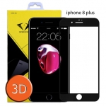 ไอโฟน8 พลัส ฟิล์มกระจกเต็มจอ 3D ขอบ Carbon fiber สีดำ