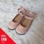 รองเท้าคัทชูส้นแบนลายฉลุสายรัดข้อเท้าโบว์ สีชมพู thumbnail 1