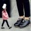 รองเท้าหนังหุ้มส้นหนังพียู หน้ากระต่าย สีดำ thumbnail 1