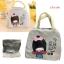 กระเป๋าใส่กล่องอาหารลายเด็กญี่ปุ่น สีเทา thumbnail 1