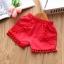 ชุดสาวน้อยเสื้อลายดอกสายสปาเก็ตตี้+กางเกงขาสั้น #สีแดง thumbnail 4