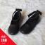 รองเท้าคัทชูส้นแบนลายฉลุสายรัดข้อเท้าโบว์ สีดำ thumbnail 1